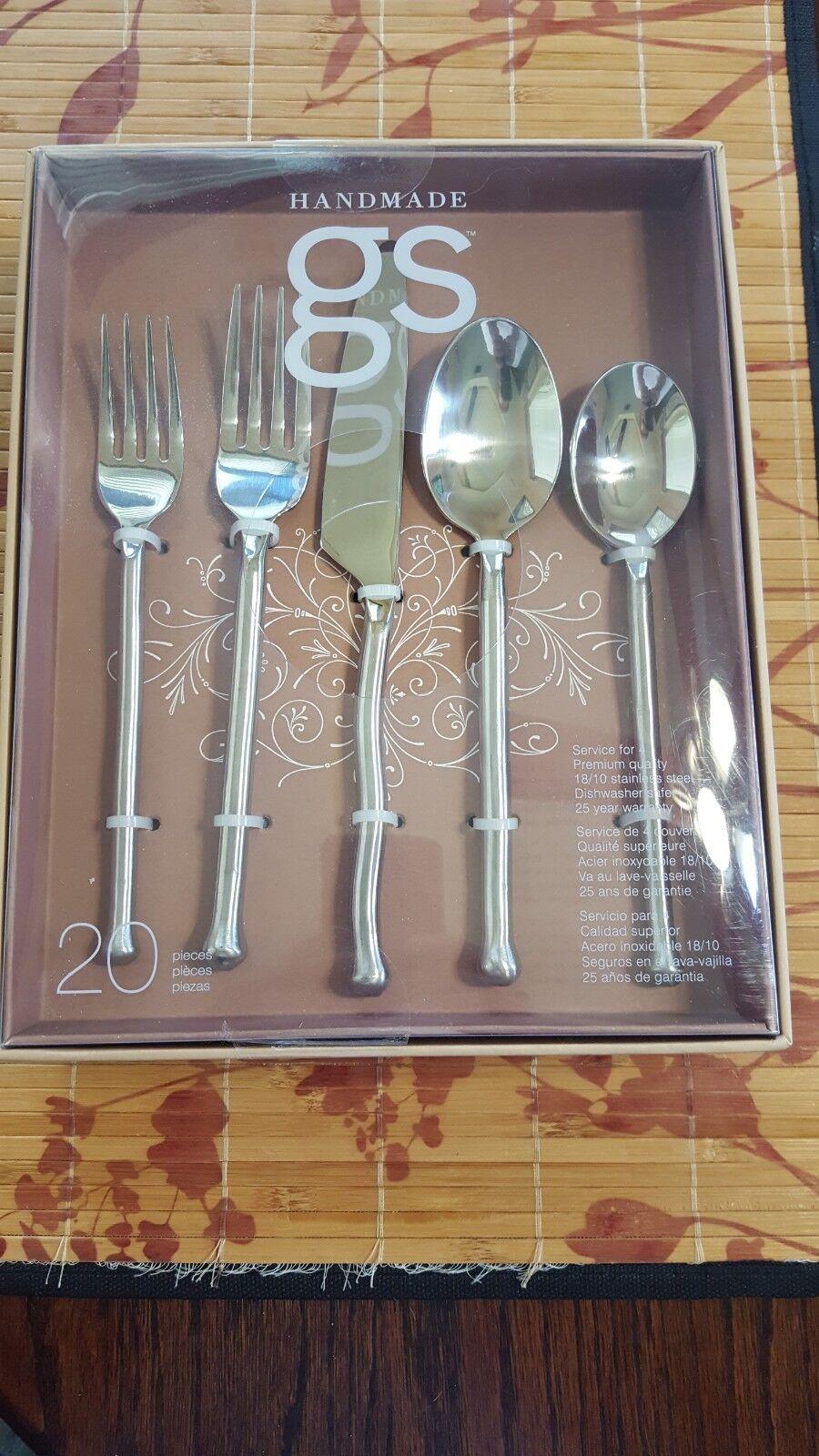 GS Gourmet paramètres Handmade EXOTIQUE 20pc Serving Set pour 4 Nouveau 18 10 SS