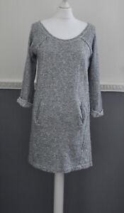 Whistles-Women-039-s-Casual-Jumper-Dress-Grey-UK-8-100-Cotton