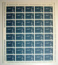 1965  ITALIA 40 lire  Rete Aerea Postale Notturna  foglio  intero MNH**