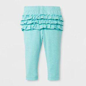 0ff6db871a9b0 Baby Girls' Ruffle Bum Leggings Cat & Jack Aqua Blue Long Stretch ...