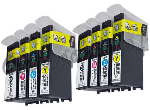 8PK 100 XL Ink Cartridge For Lexmark 100XL Pinnacle Pro901//905//705//706 S815//S816