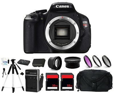 Canon EOS Rebel T3 1100D Digital Camera (Body Only) + 2 Lens + 64GB Complete Kit