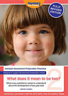 What Does It Mean To Be Two?: What Every Practitioner Needs to Understand About the Development of Two-year Olds by Jennie Lindon (Paperback, 2012)