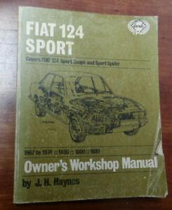 Fiat-124-Sport-Haynes-service-repair-manual-used