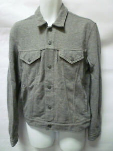 Levi-039-s-Cotton-Trucker-Jacket-Coat-Top-Grey-Marl-Genuine-New-L-Large