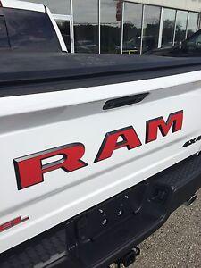 fits dodge ram rebel rear tailgate emblem overlay decals. Black Bedroom Furniture Sets. Home Design Ideas