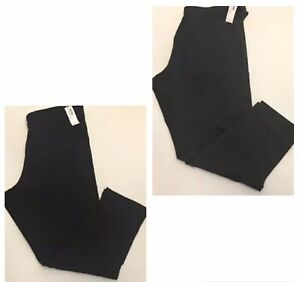 Old-Navy-Womens-Cropped-Jersey-Plus-Size-Leggings-1X-2X-3X-Black-amp-Dark-Gray-NWT