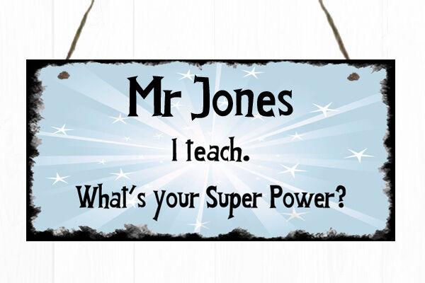 personalised teacher door sign plaque gift present thank you school
