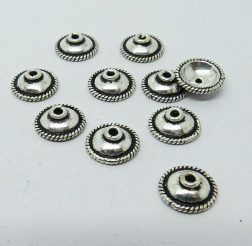 925 Sterling Silver Caps Twisted Wire 9mm Round Bali Bead Cap 10 Pieces