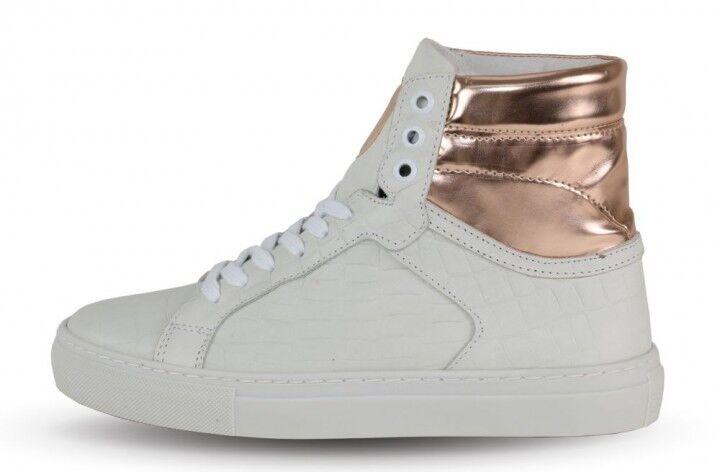 Boom Bap Damens Sneaker - Shun0057 Karma 653 WEISS Croco/Rosegold +NEU+