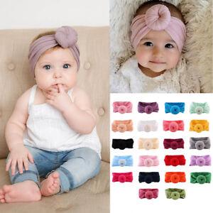 Image is loading Baby-Girl-Nylon-Turban-Headwraps-Round-Knot-Headbands- 2ba7dd5013a