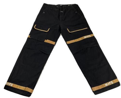 Mens Vintage Retro 90s Marithe Francois Girbaud Black Denim Jean Shorts Size 36