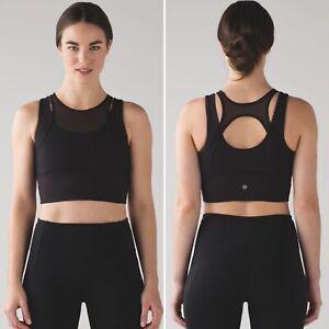 Lululemon-Longline-Double-Tap-Bra-II-Black-Racerback-Sports-Bra-Size-6