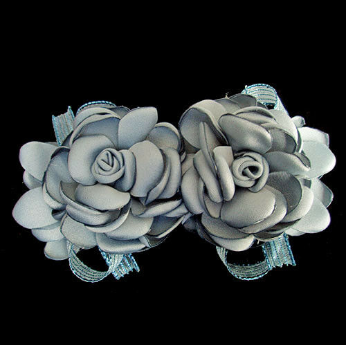 Beautiful Live Like Colorful Double Fabric Flower Hair Clip