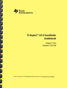 Ti nspire cx cas guide book