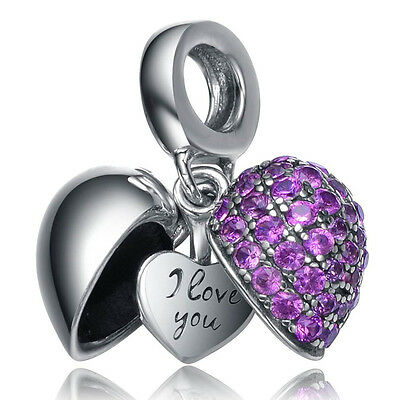 Say I Love you to Mom Wife daughter Mother Friend Open Heart Charm Gift box