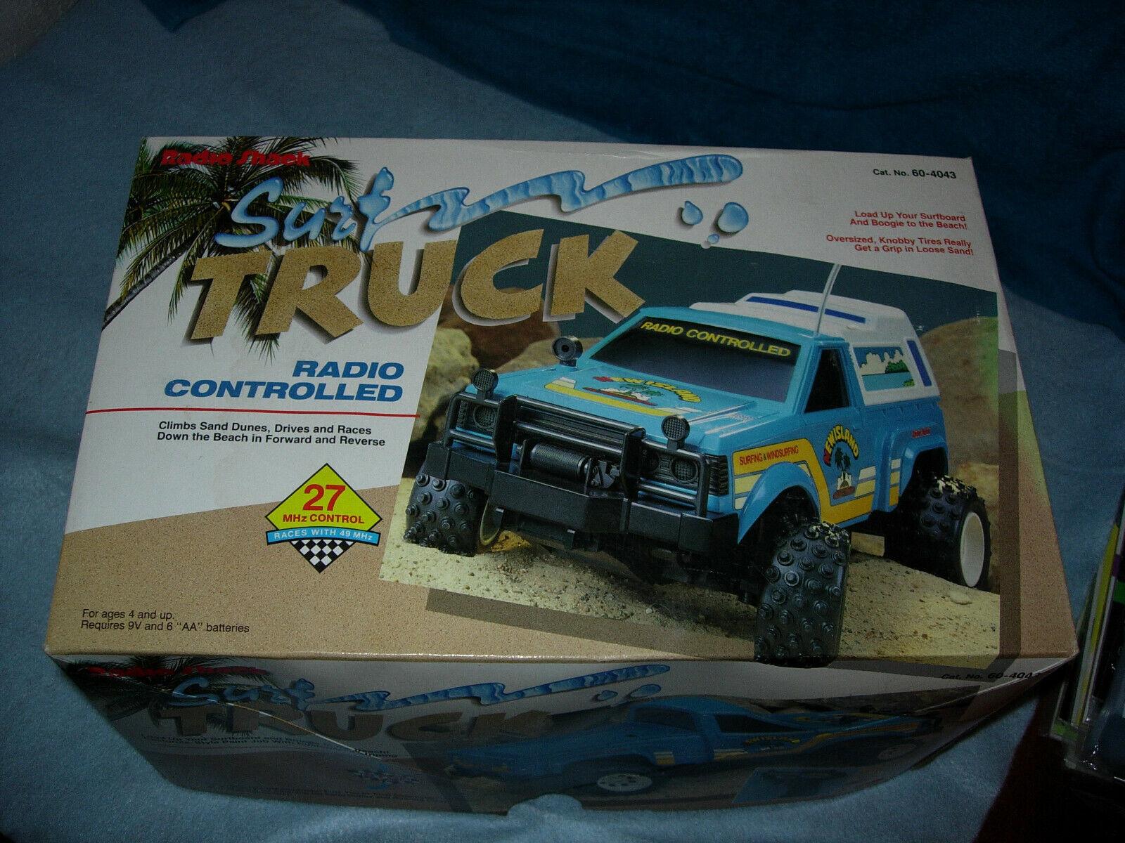 1991 Radio Shack Radio Control Surf camión Cat. Nº 60-4043