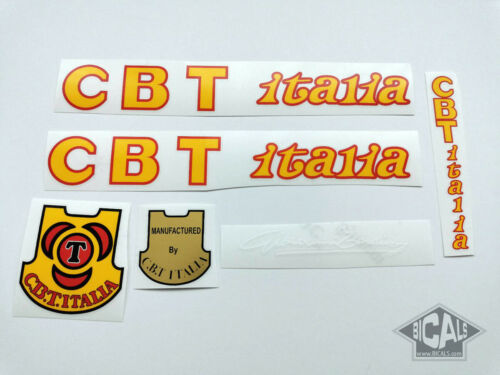 Italia CBT C.B.T silk screen decal sticker bicycle FREE SHIPPING yellow