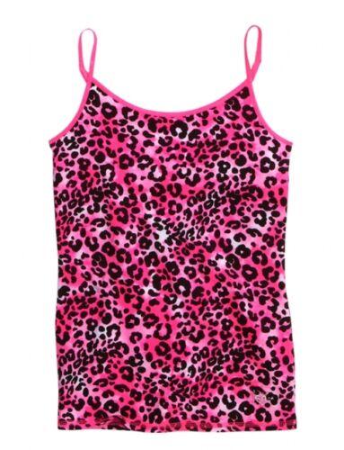 NEW NWT Justice Girls Neon Pink Leopard Cheetah Cami Tank Top Tee U Pick Size