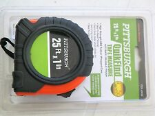 NEW 25FT. X 1'' PITTSBURGH QUICK FIND TAPE MEASURE