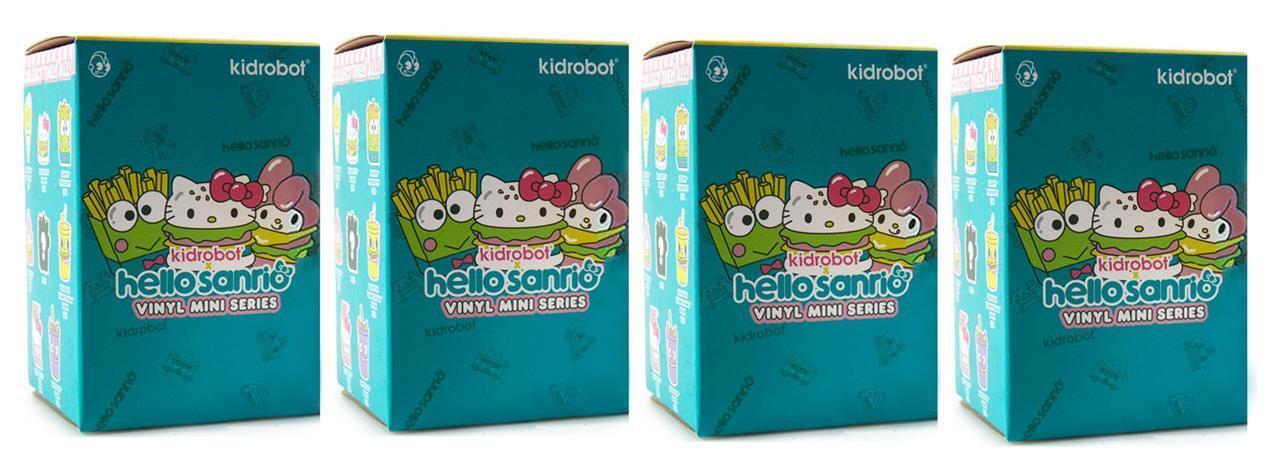 SET OF 4 BLIND BOX HELLO SANRIO VINYL MINI FIGURE SERIES BY KIDROBOT