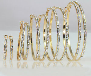 18k-Gold-Plated-Large-Medium-Small-Hoop-Earrings-Made-With-Swarovski-Crystal