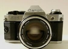 Canon AE-1 Program Camera with Canon FD 50mm F1.4 Lens Great Condition !
