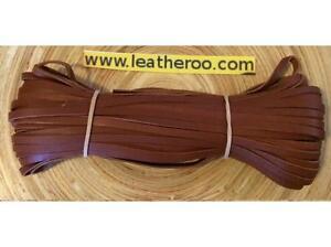 """3.0mm 1//8/"""" Width Kangaroo Lace NATURAL Kangaroo Leather Lacing 10 meter hank"""
