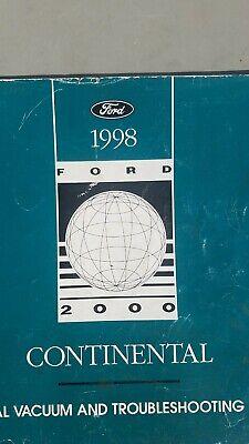 1998 Lincoln Continental Wiring Diagram Electrical Service Manual EVTM FREE  Ship | eBayeBay