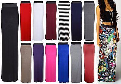 PüNktlich New Womens Ladies Pencil Striped Bodycon High Waist Tube Wiggle Long Maxi Skirt