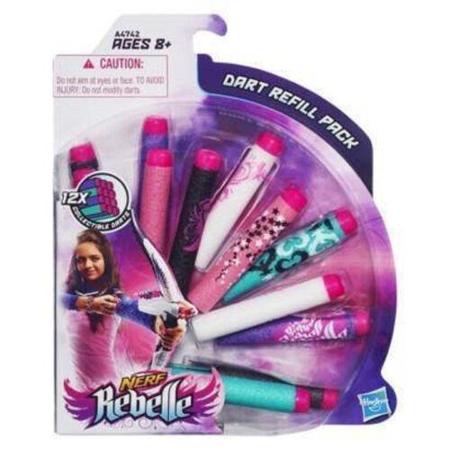 New Nerf Rebelle Dart Refill Pack  12 Darts
