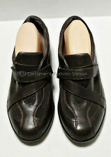 R39 Clarks Shoes Everyday Loafers Size 8W Leather Brown Buckle Women