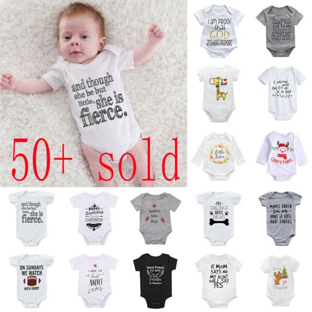 Newborn Infant Baby Kid Girl Cotton Romper Bodysuit Jumpsuit Clothes Outfit Lots