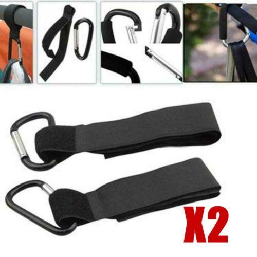 2Pcs Shopping Buggy Strap Clips Pram Bag Hooks Pushchair Buggies Stroller Walker