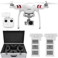 DJI Phantom 3 Standard Drone 2.7K Camera 3-Axis Gimbal 2x Battery Case Bundle