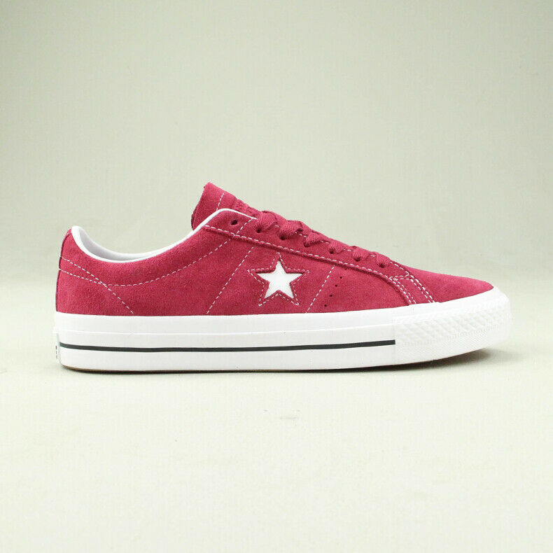 Converse One Star Pro Ox Trainers shoes in Berry White in UK size 7,8,9,10,11