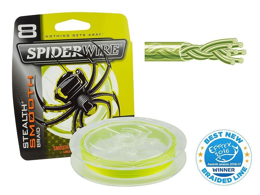 Spiderwire Stealth Smooth 8 Yellow   300 m   braided line