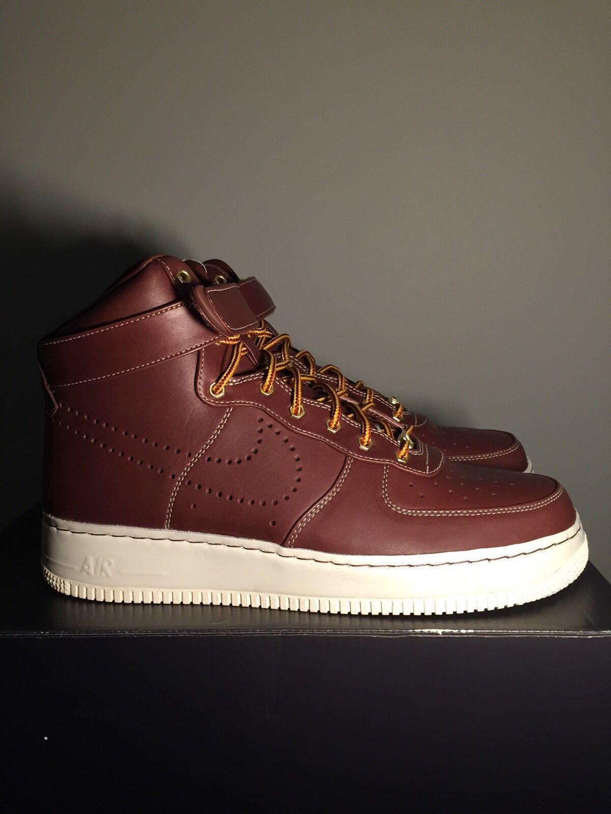 2010 Nike Air Force 1 Supreme Hi, Deep Burgundy-Sail, Burgundy-Sail, Burgundy-Sail,  Work Boot , Size US 9 4c0f3b