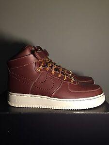 Details about 2010 Nike Air Force 1 Supreme Hi, Deep Burgundy-Sail,