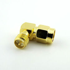 RP-SMA Male To RP-SMA Female Male Pin Right Angle 90 Degree RF Connector Adapter