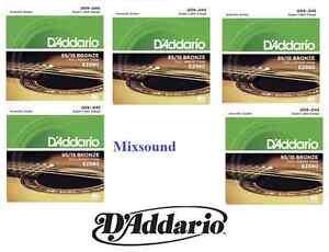 OFFERTA-5-SET-MUTA-CORDE-D-039-ADDARIO-EZ890-Bronze-009-045-CHITARRA-ACUSTICA-FOLK