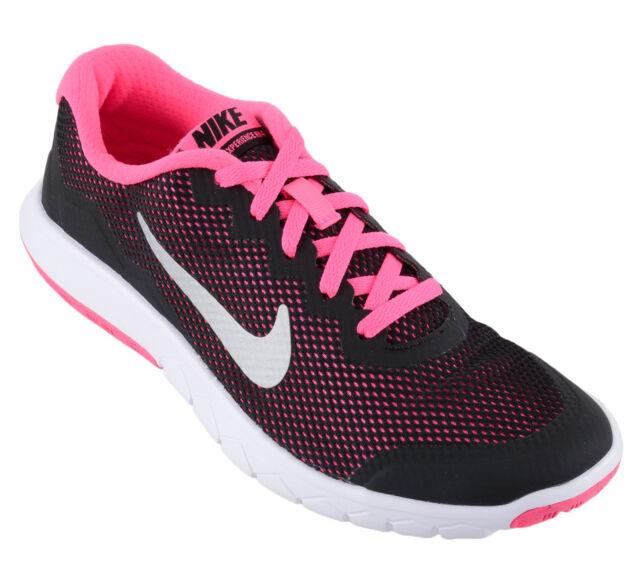 7d214e7304e3 Nike Flex Experience 4 Girls Running Shoes Junior Kids Black Pink RRP £42 ~  SALE