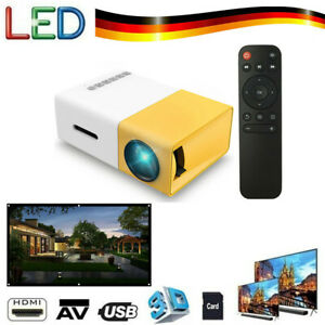 Tragbar Mini 1080p LED LCD 3D Beamer Heimkino Projektor FüR Tablet PC Handy A4C4
