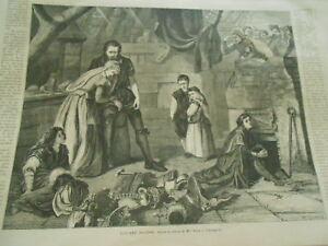 Constructif Gravure 1868 - Bernard Palissy D'après Mme Ward Artisanat Exquis;