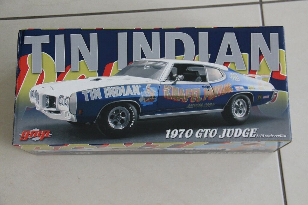 Pontiac GTO Judge  Tin Indian , GMP G1801227, 1 18 scale, 156 2000, Rare model.