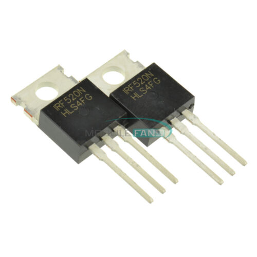 50PCS IRF520N IRF520 TO-220 N-Channel IR Power MOSFET