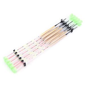 10-PCs-lots-Fish-float-peche-en-bois-flotteur-outils-d-039-attirail-de-peche