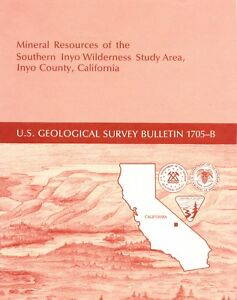 Inyo Gold Mines Owens Valley Lone Pine Calif Scarce 1st Ed Big