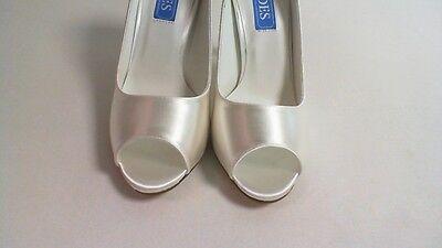 Shades Boda Nupcial Zapatos-Niamh 516-marfil talla 3-Dyeable Tela #10L434
