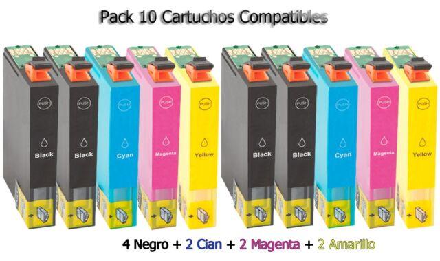10 XL tinta cartuchos para Epson xp102 xp202 xp205 xp212 xp215 xp302 xp305 Home